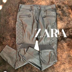 💥Zara Faux Lather Moto Pants